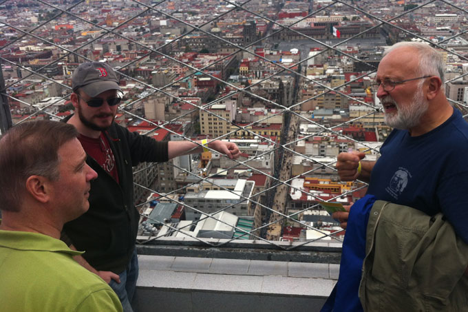 Revs. Boyle, Kimbro and Mooney getting a view of Mexico City
