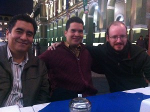 Pastors Marcus Reyes and Lalo Peña pictured with missionary Jason Boyle in the State of Veracruz in Eastern Mexico.