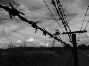 The Iron Curtain in Czechoslovakia.